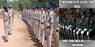 India Keeps Two Minutes of Silence